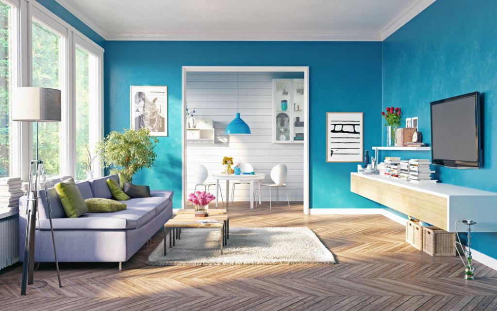 Aquarium-Blue-and-Grape-paint-colour-combinations-for-the-home-entrance
