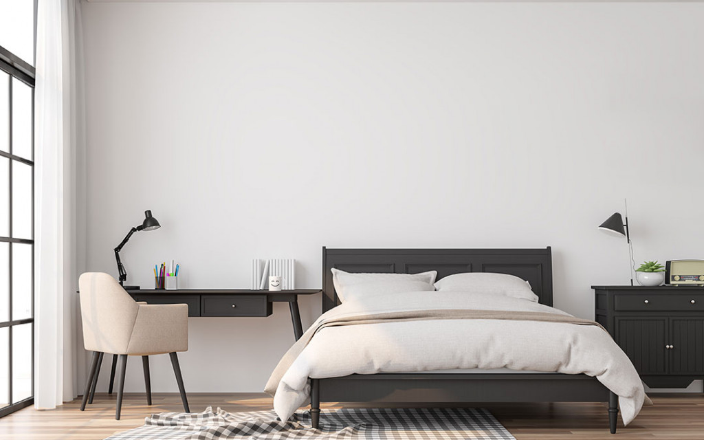 bedroom-coloured-with-white-paint-colour