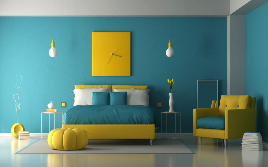 Light-blue-and- Radiant-Yellow-paint-colour-combinations