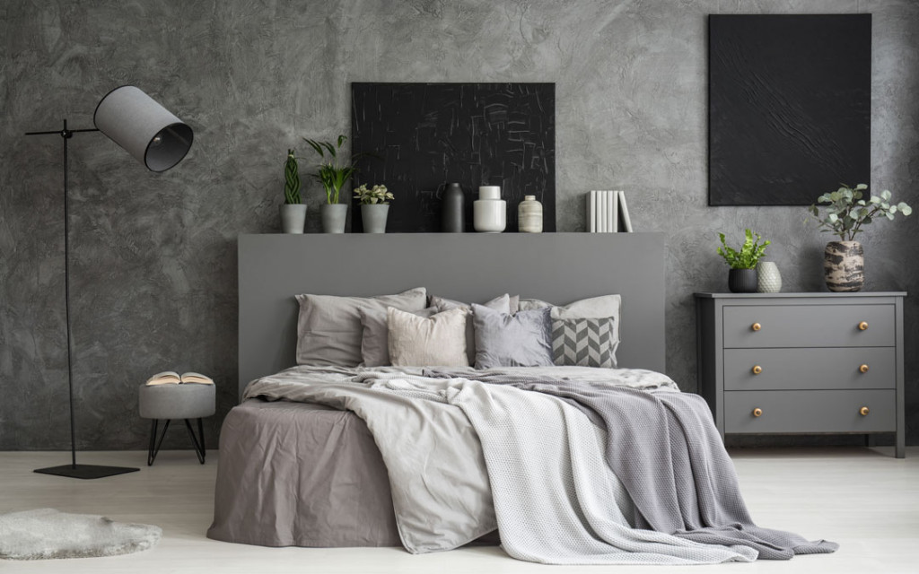 Shades-of-Grey-paint-colour- Combinations-for-bedroom
