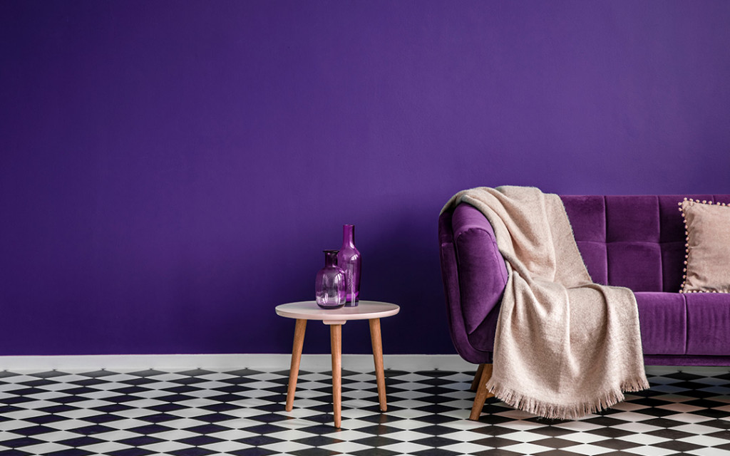 Purple-colour-living-room-have-sofas-and-table