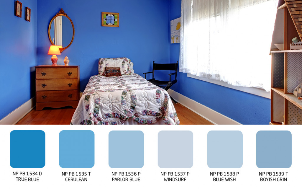 blue wall color home paint