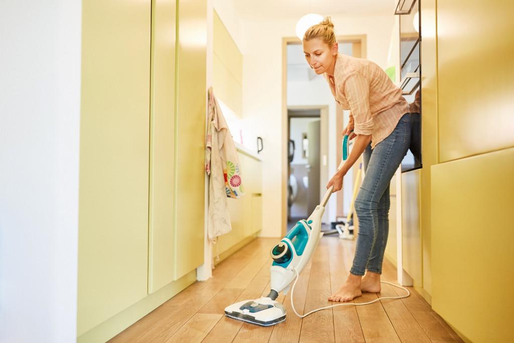 sanitize hallways and carpets