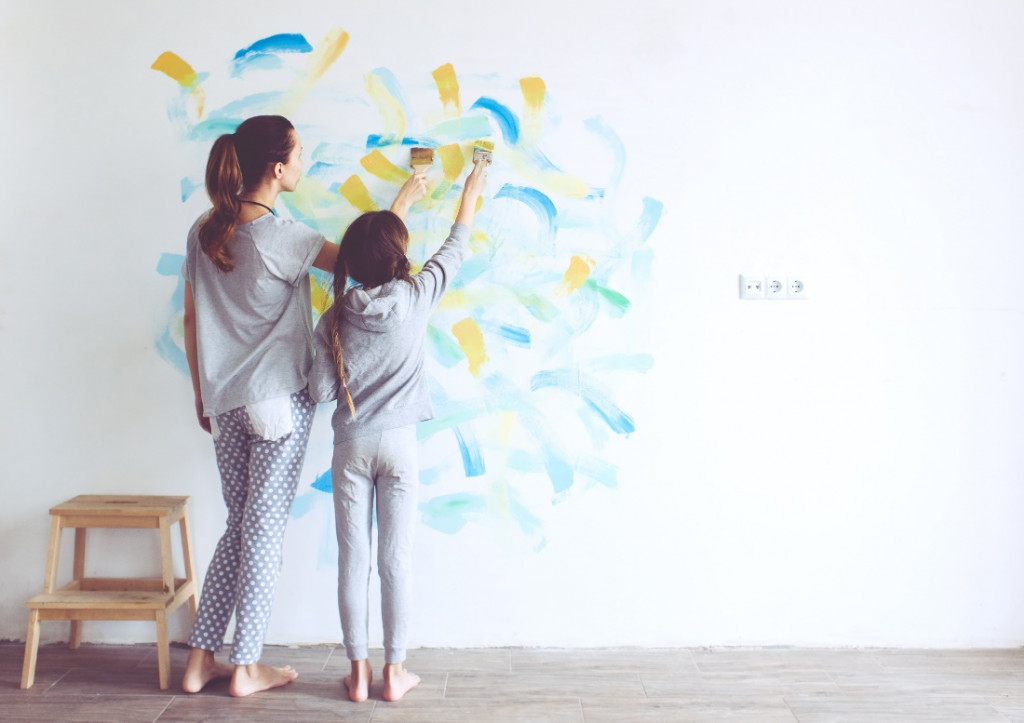 kids room wall paint