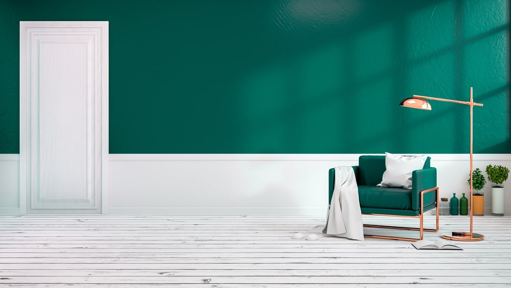 Green Color interior wall paint