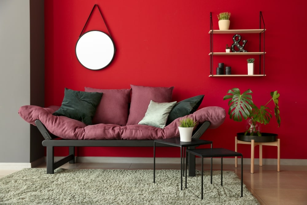 Red wall color paint Ideas