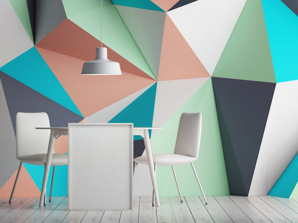 Best Interior Triangle shapes wall color ideas