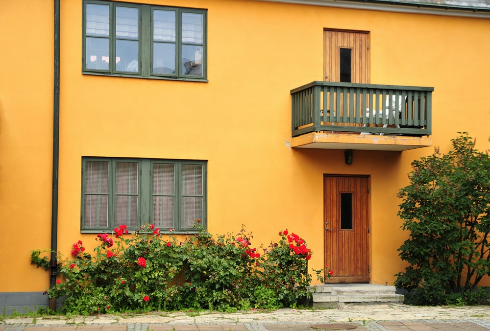 yellow color exterior wall paint