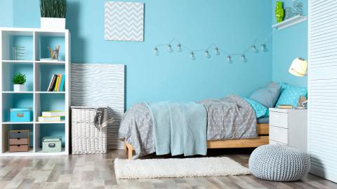 Blue colour interior wall paint color ideas