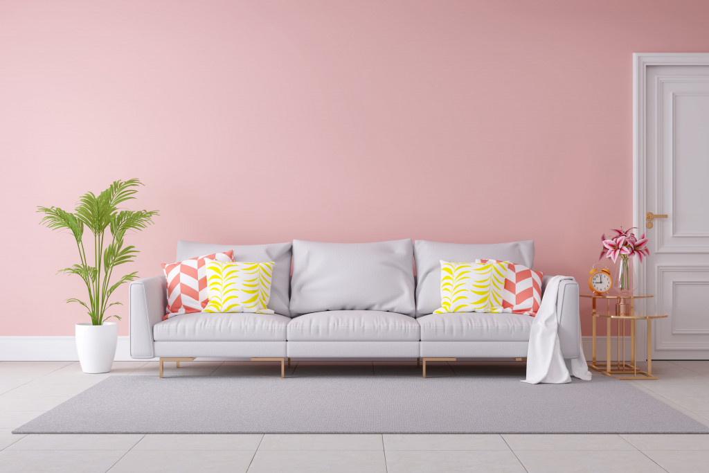 Pastel indoor wall paint color