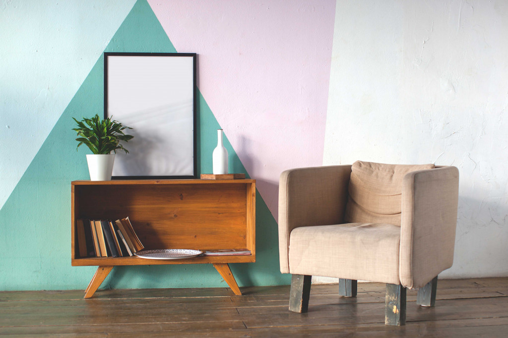 Green + Blue + Violet wall color ideas