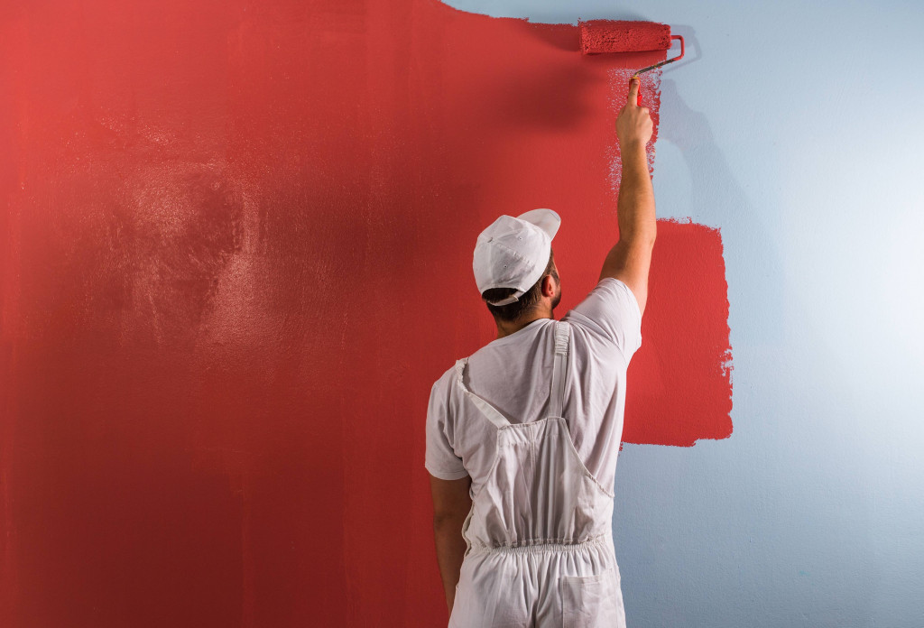 Trendy Red color interior wall paint