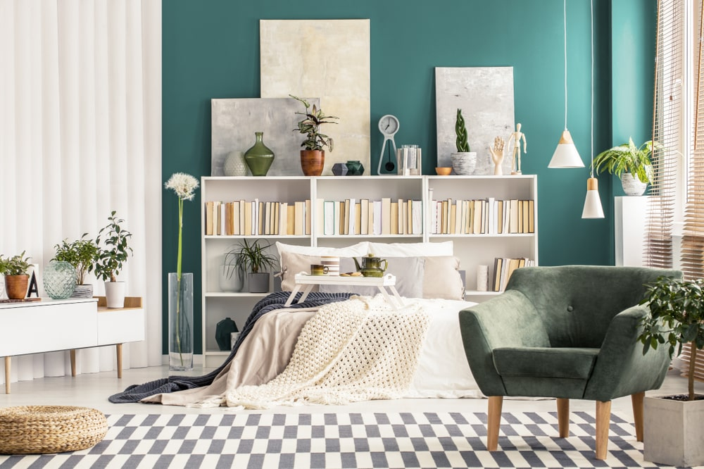 Turquoise wall paint Design ideas
