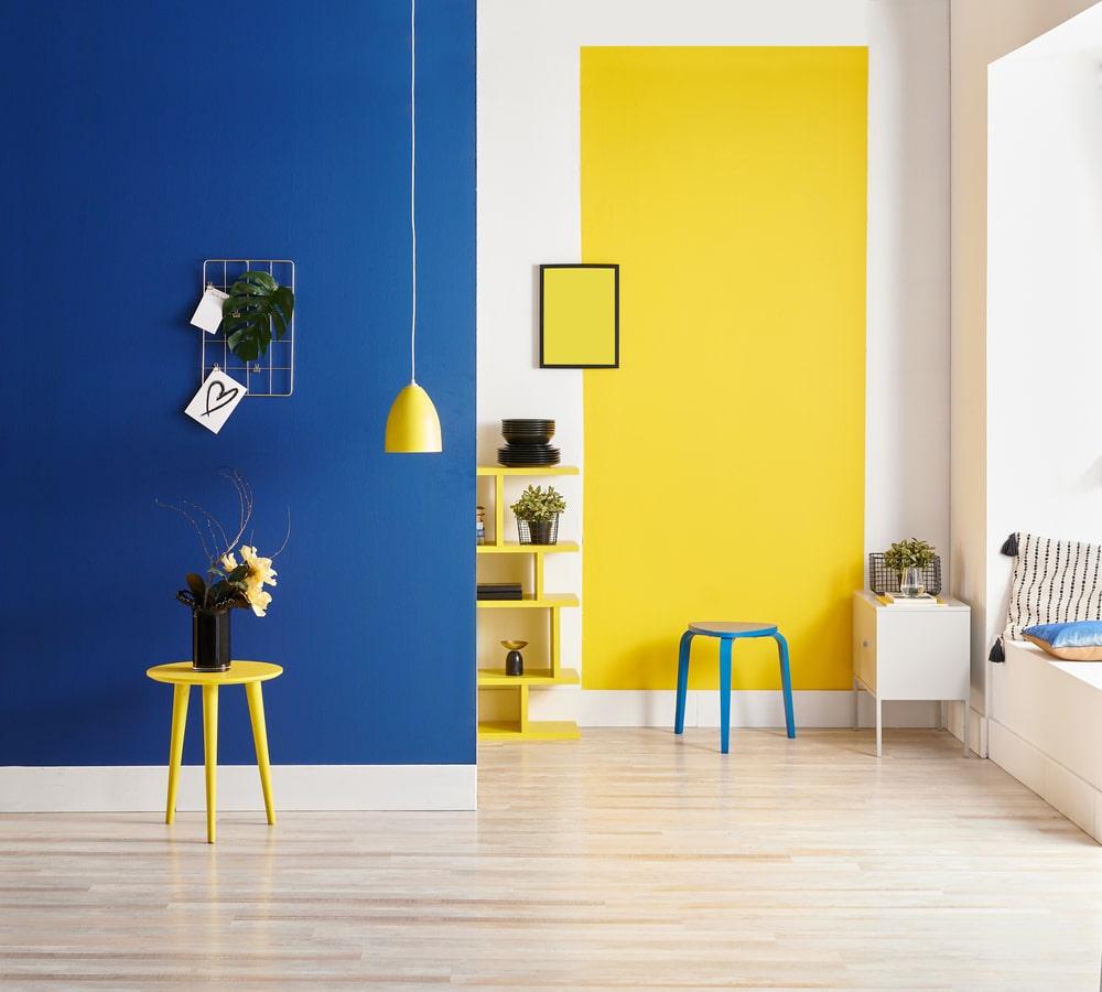 Best Yellow and Indigo interior wall Ideas
